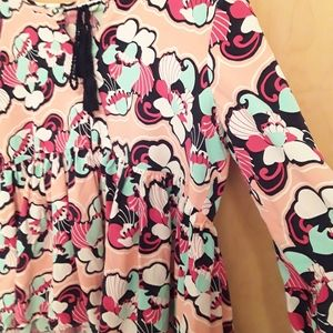Pink Boho Shell Peasent Top S M L